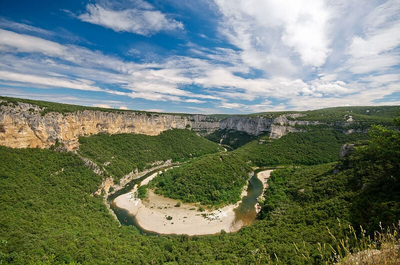 The Gorges de l'Ardèche